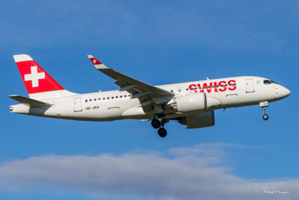 HB-JBA - Bombardier CS100 - Swiss