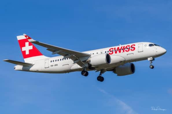 HB-JBB - Bombardier CS100 CSeries - Swiss