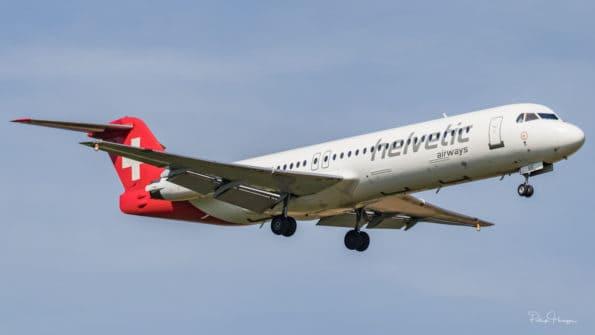 HB-JVE - Fokker 100 - Helvetic