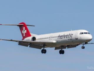 HB-JVG - Fokker F100 - Helvetic